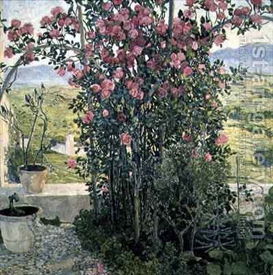 Valley in Umbria by Aleksandr Jakovlevic Golovin - Reproduction Oil Painting