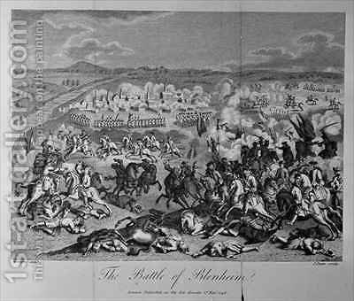 The Battle of Blenheim in 1704 2 by (after) Godefroy, Jean - Reproduction Oil Painting