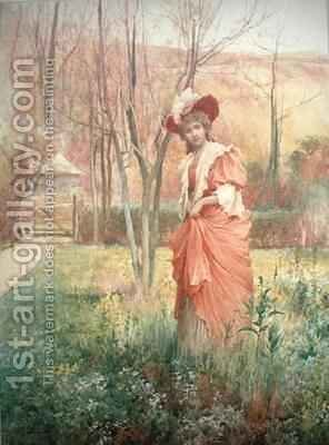 The Squires Daughter by Alfred Augustus I Glendenning - Reproduction Oil Painting