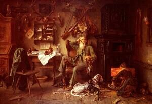 Famous paintings of Still Life: A Forester at Home