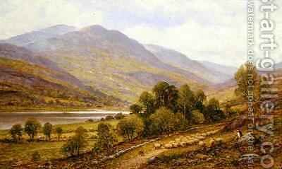 Snowdonia possible Lake Gwynant by Alfred I Glendening - Reproduction Oil Painting