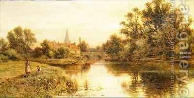 The Thames at Marlow by Alfred I Glendening - Reproduction Oil Painting