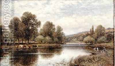 The Thames at Maple Durham by Alfred I Glendening - Reproduction Oil Painting
