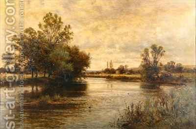 Penton Hook on the Thames by Alfred I Glendening - Reproduction Oil Painting