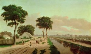 Neo-Classical painting reproductions: Cotton Plantation