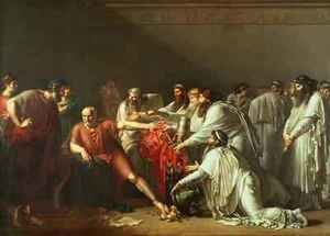 Neo-Classical painting reproductions: Hippocrates Refusing the Gifts of Artaxerxes I
