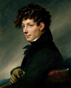 Neo-Classical painting reproductions: Portrait of a Young Man as a Hunter