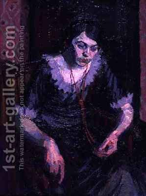 The Coral Necklace by Harold Gilman - Reproduction Oil Painting