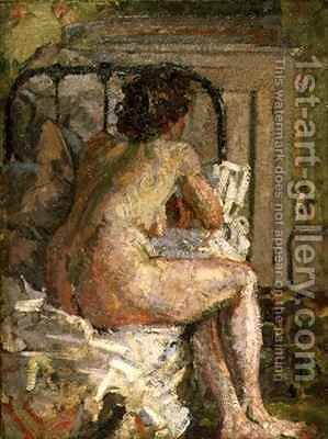Nude on a bed 2 by Harold Gilman - Reproduction Oil Painting