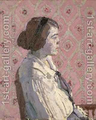 Portrait in Profile Mary L by Harold Gilman - Reproduction Oil Painting