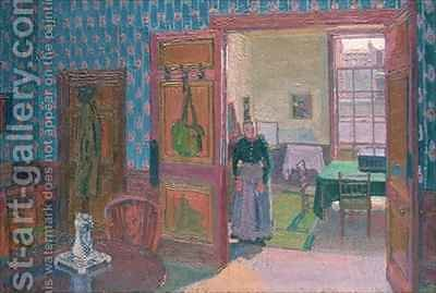 Interior with Mrs Mounter by Harold Gilman - Reproduction Oil Painting