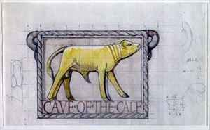 Reproduction oil paintings - Eric Gill - Design for bas relief of the Calf in the Cave of the Golden Calf