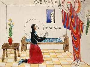 Reproduction oil paintings - Eric Gill - Annunciation