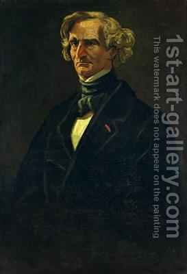 Portrait of Hector Berlioz 1803-69 formerly attributed to Honore Daumier 1808-79 by Andre Gill - Reproduction Oil Painting