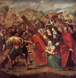 Reproduction oil paintings - Ridolfo Ghirlandaio - The Procession to Calvary