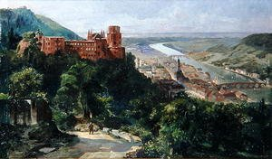 Fritz Genutat reproductions - View of Heidelberg