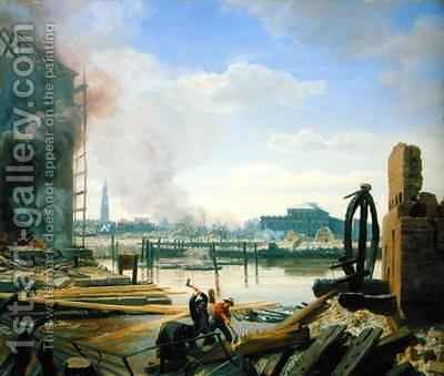 Hamburg After the Fire by Jacob Gensler - Reproduction Oil Painting