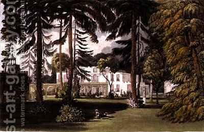 Pelling Place Garden Front from Ackermanns Repository of Arts by (after) Gendall, John - Reproduction Oil Painting