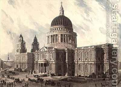 South East View of St Pauls Cathedral by (after) Gendall, John - Reproduction Oil Painting