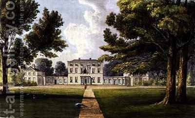 Richings Lodge from Ackermanns Repository of Arts by (after) Gendall, John - Reproduction Oil Painting