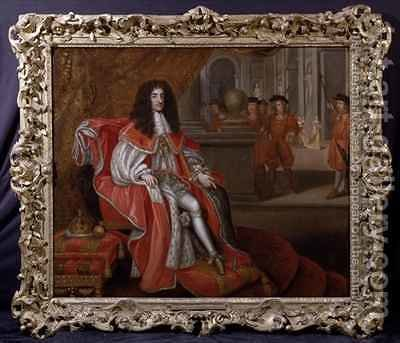 Charles II at Court by Henri Gascard - Reproduction Oil Painting