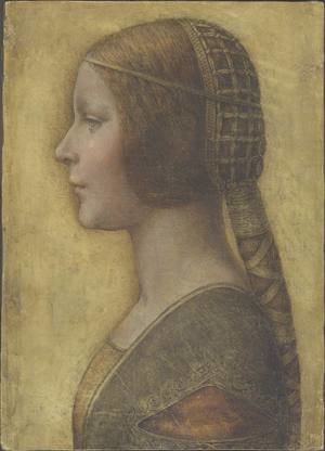 Reproduction oil paintings - Leonardo Da Vinci - Profile of the Bella Principessa
