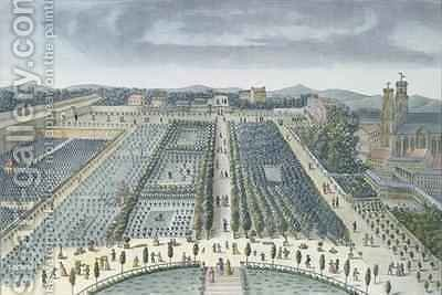 General View of Luxembourg Gardens in Paris by (after) Garbizza, Angelo - Reproduction Oil Painting