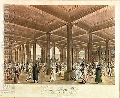 Arcade of the Palais Royal by (after) Garbizza, Angelo - Reproduction Oil Painting