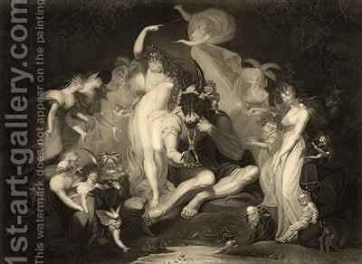 Scene from Act IV Scene I of A Midsummer Nights Dream by (after) Fuseli, Henry (Fussli, Johann Heinrich) - Reproduction Oil Painting