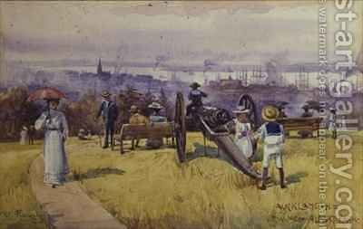 View from Albert Park Auckland New Zealand by Albert Henry Fullwood - Reproduction Oil Painting