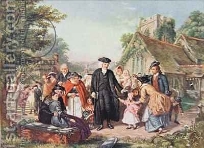 The Village Clergyman by (after) Frith, William Powell - Reproduction Oil Painting