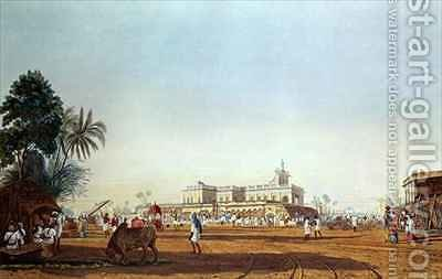 Lall Bazaar and the Portuguese Chapel Calcutta by (after) Fraser, James Baillie - Reproduction Oil Painting
