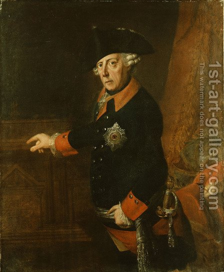 Frederick II The Great of Prussia by J.H.C. Franke - Reproduction Oil Painting