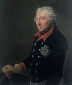 J.H.C. Franke reproductions - Friedrich the Great 1712-86 Wearing the Uniform of the 15th Infantry Regiment