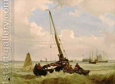 Fishing Boat in Distress by Alexandre T. Francia - Reproduction Oil Painting