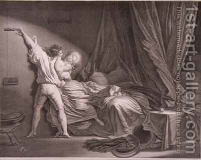 The Bolt by (after) Fragonard, Jean-Honore - Reproduction Oil Painting