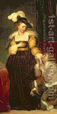 Mary Queen of Scots 1542-87 with Rizzio by Alexandre Evariste Fragonard - Reproduction Oil Painting