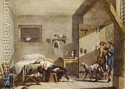 The Death of Condorcet in prison on 28th March by (after) Fragonard, Alexandre Evariste - Reproduction Oil Painting