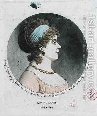 Portrait of Madame Roland 1754-93 made by the physionotrace method by (after) Fouquet, Jean - Reproduction Oil Painting