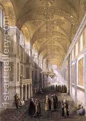Haghia Sophia plate 2 the narthex by (after) Fossati, Gaspard - Reproduction Oil Painting