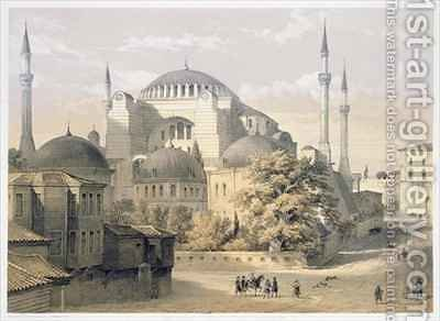 Haghia Sophia plate 19 exterior view of the mosque by (after) Fossati, Gaspard - Reproduction Oil Painting