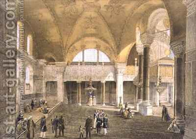 Haghia Sophia plate 9 the new Imperial Gallery by (after) Fossati, Gaspard - Reproduction Oil Painting