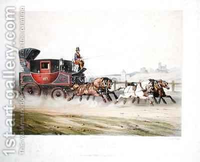 The Mail Coach by (after) Fort, F. - Reproduction Oil Painting
