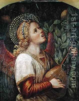 Angel Musician by Melozzo da Forli - Reproduction Oil Painting