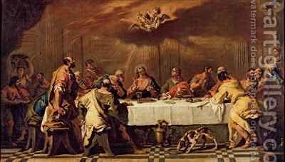 The Last Supper by Francesco Fontebasso - Reproduction Oil Painting