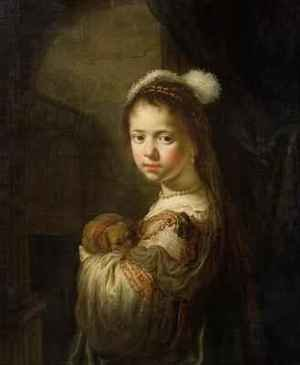 Reproduction oil paintings - Govert Teunisz. Flinck - A Little Girl with a Puppy in her Arms