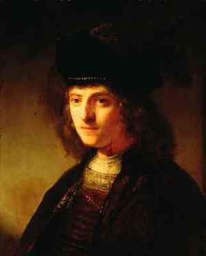 Reproduction oil paintings - Govert Teunisz. Flinck - A Young Man in a Feathered Beret