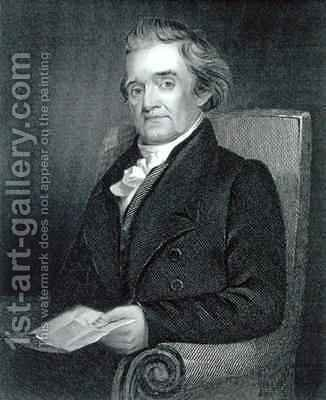 Noah Webster 1758-1843 by (after) Flagg, Jared Bradley - Reproduction Oil Painting