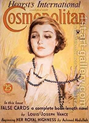 Front cover of Cosmopolitan magazine by Harrison Fisher - Reproduction Oil Painting
