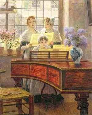 Walther Firle reproductions - Around the Piano